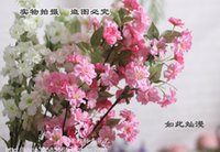 Wholesale Cherry Blossom Artificial Silk Flowers high quality home decor Wedding supplies Flower Arrangement Silk cherry blossom new