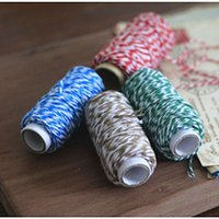 airlines food - colorful Cotton Rope meter one roll Bread Biscuit Confectionery Food PaGift Wrap Christmas wedding Decorate birthday Party Favor holder