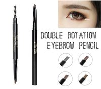 Wholesale PT waterproof Eyebrow pencil cosmetics Double rotating Eyebrow Enhancer lasting hours women eye makeup easy to wear