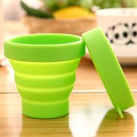 Wholesale Portable Cups Silicone Telescopic Drinking Collapsible Folding Cup Outdoor Travel Camping Random Color MA0036 smileseller