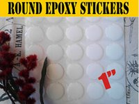 Wholesale 1 inch Blue Glowing epoxy stickers High Quality epoxy domes Epoxy dots for bottle caps