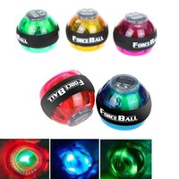 Wholesale Gyroscope LED Wrist Power Force Ball Grip Ball Arm Muscle Exercise Strengthener Speed Meter Colors