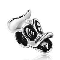Silver animal shape beads - New Duck Shape Silver Charm European Bead Fits Snake Chain Bracelets Fashion Charms DIY Jewelry