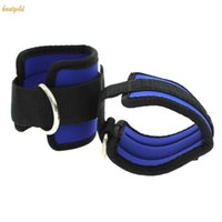 Wholesale 2Pcs D Ring Leg Thigh Pulley Lifting Ankle Strap Multi Gym Cable Attachment