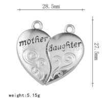 alphabet labels - Mother Day s Gift Alphabet Mother and Daughter Twain Heart Charm charm peace gift labels for kids