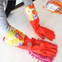 Wholesale Thick Long Wamr Rubber Household Latex Gloves Clean Dish Lengthen for Laundry and Kitchen Cleaning Dishwashing