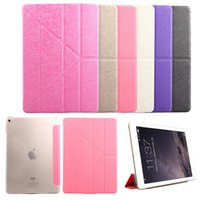 acer light - Silk Smart case for ipad Folds Stand Design Smart Magnetic Silk Lines Leather Cases Cover Cases for ipad mini ipad ipad air air