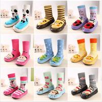 baby slipper socks leather sole - Children s Infant Toddler Cartoon Socks Baby Kid s Indoor Floor Socks Leather Sole Anti Slip Thick Towel Socks Slippers Boots