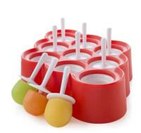 baby cavities - 2015 Fashion Cavity Mini Silicone Ice Pop Tray Baby Icecream Molds Ice Cube Mold Tray