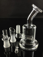 Wholesale best quality two function clear Mini bubbler glass ash catcher inline percolator water pipe oil rig bong