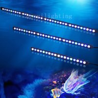 Wholesale TOP quality Waterproof w LED aquarium grow light bar white blue ip65 for reef coral fish tank light strip stock in USA DE