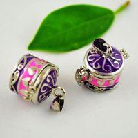 prayer box charm - Enamel Pink Prayer Box Charm Pendant