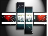 abstract paintings for sale online - Hand Painted Large Modern Abstract In Black And White Painting Wall Art Oil On Canvas For Sale Online Decoration House