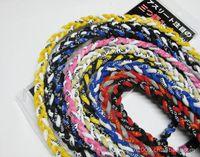 Wholesale 3 ropes tornade bracelets titanium braided magnetic balance sport custom power baseball Germanium bracelet inch style DHL free