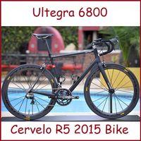 Wholesale 2015 Carbon Fiber Complete Bike Cervelo R5 RCA Road Bike with Ultegra Components Drop Handlebar Size cm