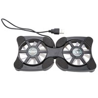 Wholesale USB Mini Octopus Laptop Fan Cooler Cooling Pad Folding Coller Fan Black NVIE order lt no track
