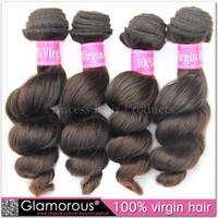 Wholesale Loose Wavy Russian Hair - Virgin Russian Real Human Hair Natural Color Machine Wefted Loose Wave Wavy Hair Weaves Mongolian Cambodian Filipino Eurasian Hair Weft