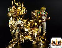 ae products - In Stock AE Saint Seiya EX God Leo Aiolia Metal Armor Myth Cloth Gold Ex Action Figure Toy Model Christmas Gift