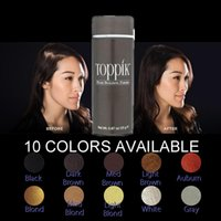 Wholesale Toppik Black Dark Brown Light Brown Colors Thinning Hair Loss Product Hair Growth Solution Fibers g