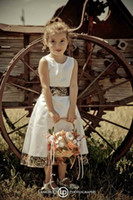 beauty weding dresses - Camo and White Flower Girls Dresses Stain Crew Tea length A Line Beauty Pageants Gowns for Girls Weding event