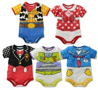 Wholesale Baby s rompers new arrival summer cotton cartoon short sleeve baby one piece pieces