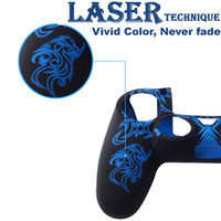 Wholesale Laser Silicone Skin Cover Case Protection Skin Protective Gel Cover for Sony PS4 Playstation Controller Grip Handle Color