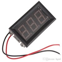 Wholesale PROMOTION YB27A AC V LED Digital Voltmeter with Two Wire System Red Display EGS_140