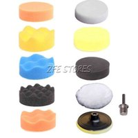 Wholesale 10Pcs quot mm Buffing Pad Polishing Pad Kit For Car Polisher M14 Thread