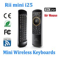 Wholesale Rii mini i25 GHz Fly Air Mouse Wireless Keyboard Remote for Android mini PC TV Box Tablet PC Smart TV
