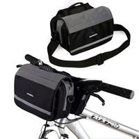 bicycle basket bag - Cycling Bike Bicycle Front Basket Handlebar Bag Shoulder Bag