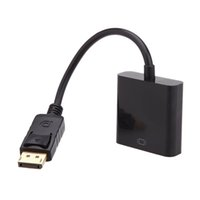 dp masculino vga hembra al por mayor-1080p HDMI a VGA Convertidor Cables de Audio Video DP Display Port Male to VGA Female Converter Adapter Cable DHL V1192