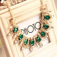 beautiful gems - beautiful necklaces Ms Fine crystal Cut surface gem luxury necklace A167