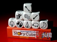 Cheap rory's story cubes table game desktop cards dice board game children family game tell story