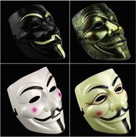 Wholesale V Mask Vendetta Party Mask Halloween Mask Party Face Mask Halloween Mask Super Scary For Vendetta Anonymous Adult Mask