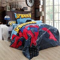 bedroom toddler - Spiderman bedding sets queen size double twin bed sheet quilt duvet cover children boys bedsheet bedroom linen for kids toddler