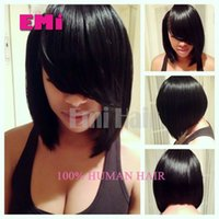cheap wigs - Brazilian Cheap Full Lace Wig Bob human hair wigs straight best hair natural black nature african american hair remy wigs for black women