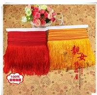 Wholesale trimming Latin skirt fabric fringe to be ranked sizes lace Pennant spike garment accessories cm