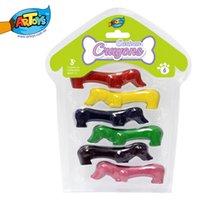 Wholesale Artoys Puppy Crayons Drawing Shaped Wax Puppy Cartoon Crayon Set safe non toxic Children s DIY Educational Toys