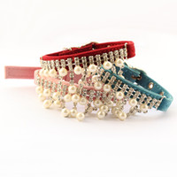 Wholesale Armi store Rhinestone Chain Hanging Beads Pet Dog Collar Princess Collars For Dogs Cat Puppy Leash Accessories