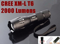 best work lights - Best High Power UltraFire E17 Lumen Flashlight Led CREE T6 XM L Camping Torch Flash Light Zoomable CREE Waterproof LED Flashlights
