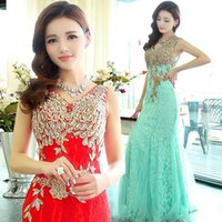 Wholesale Celebrity Evening Dresses Crystals Beaded Mermaid Long Formal Evening Dress Sexy Sheer Dresses Party Evening Gowns