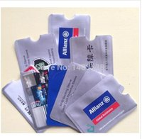 Wholesale rfid sleeve for credit card Protector RFID Secure Aluminum Sleeve