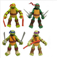 Wholesale TMNT Teenage Mutant Ninja Turtles Movable PVC Action Figure Toys doll model set of Best Gift for Kids Frozen Toys by DHL sets