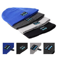 Beanie/Skull Cap acrylic speakers - Bluetooth Beanie Knitted Winter Hat headset Hands free Music Mp3 Speaker Mic Cap Magic Sport Hats for Boy Girl Adults