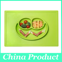 baby suction cup plate - Bearbabymats One Piece BPA Free Silicone Placemat Plate with Suction Cupse Baby bowls kids tableware Children s Cups