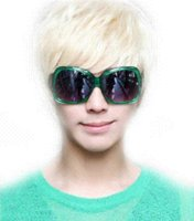 Wholesale Fashion Platinum Blonde boy Man Short Straight Wig cosplay man wig E3269 white Cosplay Wigs Cheap Cosplay Wigs