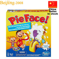 Wholesale Korea Running Man Pie Face Game Pie Face Cream On Her Face Hit The Send Machine Paternity Toy Rocket Catapult Funny Game DHL free