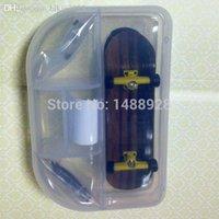 Wholesale shiny black wood professional mini finger skate boarding delicate