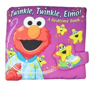 Wholesale 2016 Sesame Street Elmo Colorful English Soft Story Cloth Book Early Learning Education Cute Animals Book For Kids Infant Toys K6405