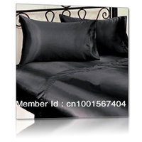 Wholesale pure mulberry queen size silk black mm sheets set